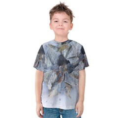 Winter Frost Ice Sheet Leaves Kids  Cotton Tee