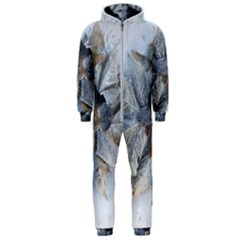 Winter Frost Ice Sheet Leaves Hooded Jumpsuit (men)