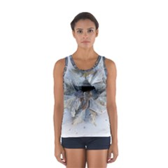 Winter Frost Ice Sheet Leaves Sport Tank Top