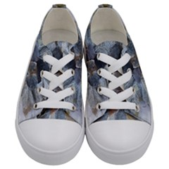 Winter Frost Ice Sheet Leaves Kids  Low Top Canvas Sneakers