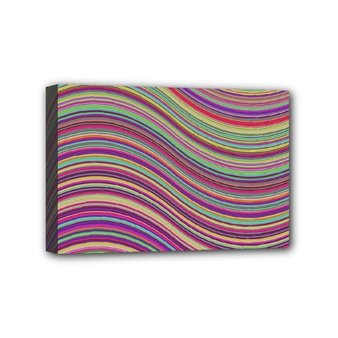 Wave Abstract Happy Background Mini Canvas 6  X 4