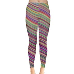 Wave Abstract Happy Background Leggings