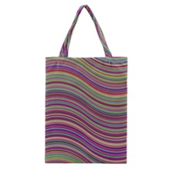 Wave Abstract Happy Background Classic Tote Bag