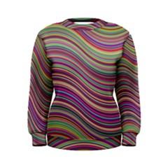 Wave Abstract Happy Background Women s Sweatshirt