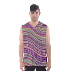 Wave Abstract Happy Background Men s Basketball Tank Top