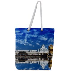 India Punjab Amritsar Sikh Full Print Rope Handle Tote (large)