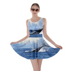 Whale Watercolor Sea Skater Dress