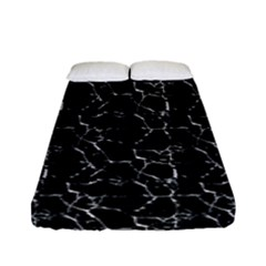 Black And White Textured Pattern Fitted Sheet (full/ Double Size)