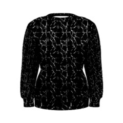 Black And White Textured Pattern Women s Sweatshirt