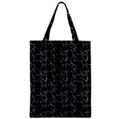 Black And White Textured Pattern Zipper Classic Tote Bag