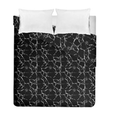 Black And White Textured Pattern Duvet Cover Double Side (full/ Double Size)