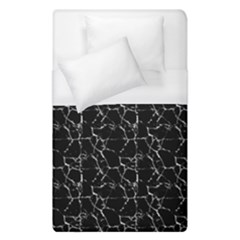 Black And White Textured Pattern Duvet Cover (single Size)