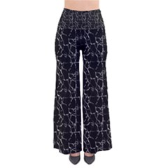 Black And White Textured Pattern Pants