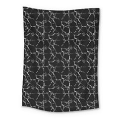 Black And White Textured Pattern Medium Tapestry