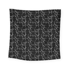 Black And White Textured Pattern Square Tapestry (small)