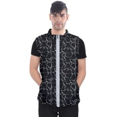 Black And White Textured Pattern Men s Puffer Vest