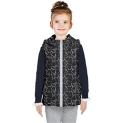 Black And White Textured Pattern Kid s Puffer Vest
