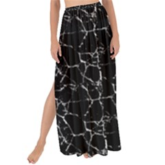 Black And White Textured Pattern Maxi Chiffon Tie Up Sarong