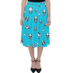 Panda Pattern Folding Skater Skirt