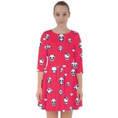 Panda Pattern Smock Dress