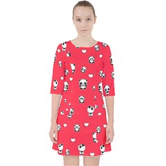 Panda Pattern Pocket Dress