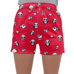 Panda Pattern Sleepwear Shorts