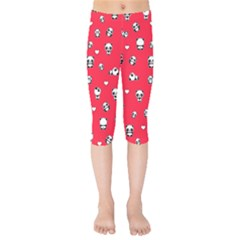 Panda Pattern Kids  Capri Leggings