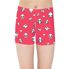 Panda Pattern Kids Sports Shorts