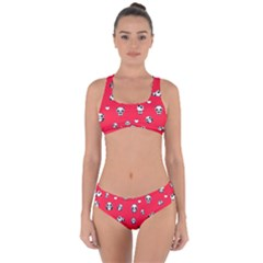 Panda Pattern Criss Cross Bikini Set