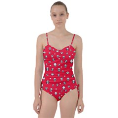 Panda Pattern Sweetheart Tankini Set
