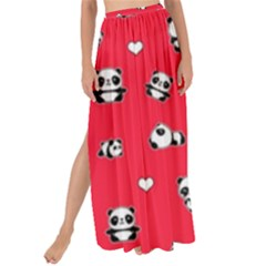 Panda Pattern Maxi Chiffon Tie Up Sarong