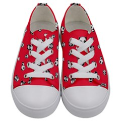 Panda Pattern Kids  Low Top Canvas Sneakers