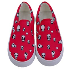 Panda Pattern Kids  Canvas Slip Ons
