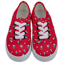 Panda Pattern Kids  Classic Low Top Sneakers