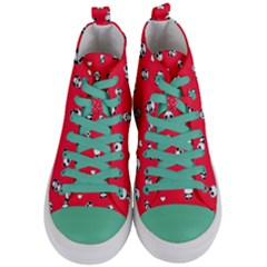 Panda Pattern Women s Mid Top Canvas Sneakers