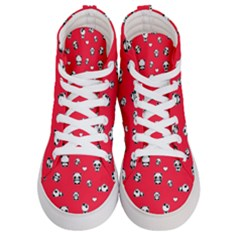 Panda Pattern Women s Hi Top Skate Sneakers