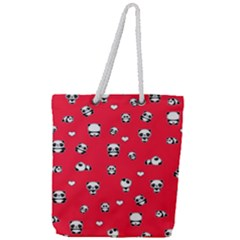 Panda Pattern Full Print Rope Handle Tote (large)