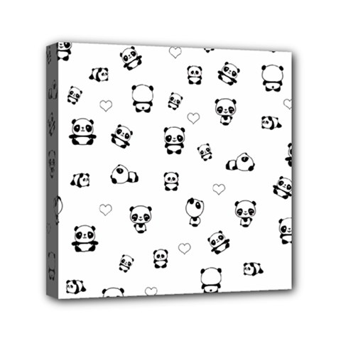 Panda Pattern Canvas Travel Bag