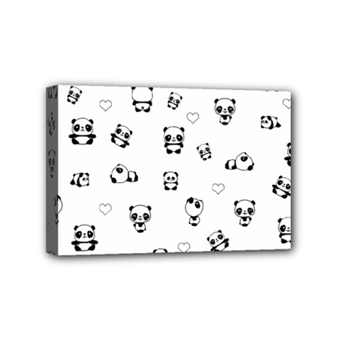 Panda Pattern Mini Canvas 6  X 4