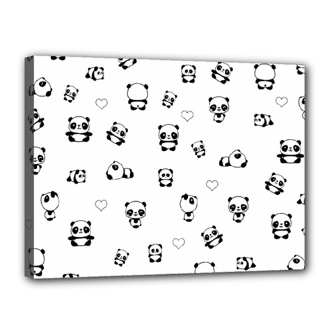 Panda Pattern Canvas 16  X 12