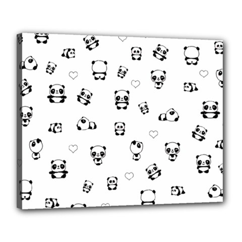 Panda Pattern Canvas 20  X 16