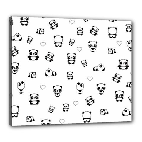 Panda Pattern Canvas 24  X 20