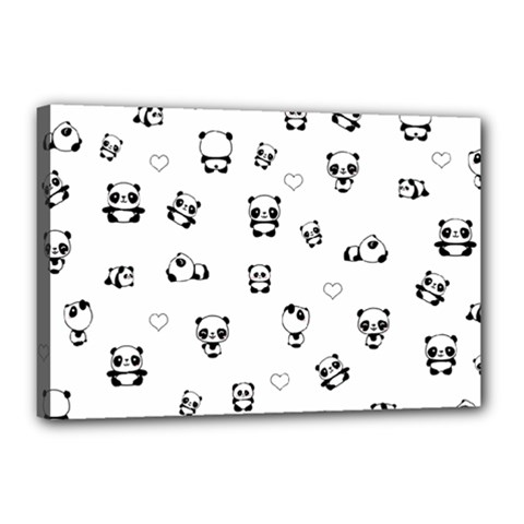 Panda Pattern Canvas 18  X 12