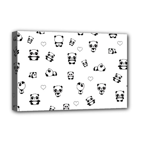 Panda Pattern Deluxe Canvas 18  X 12