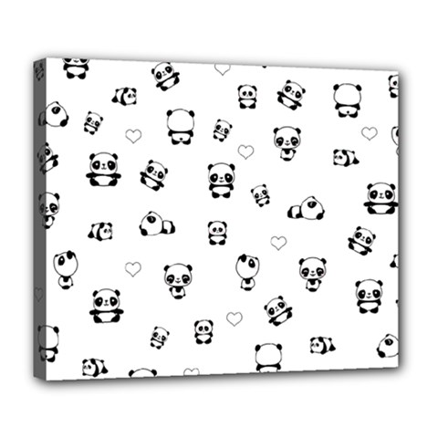 Panda Pattern Deluxe Canvas 24  X 20
