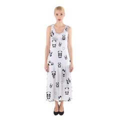 Panda Pattern Sleeveless Maxi Dress