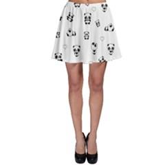 Panda Pattern Skater Skirt