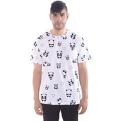 Panda Pattern Men s Sports Mesh Tee