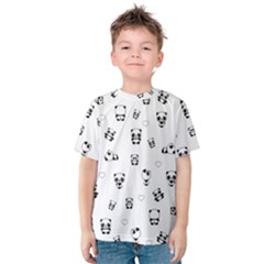 Panda Pattern Kids  Cotton Tee