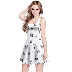 Panda Pattern Reversible Sleeveless Dress